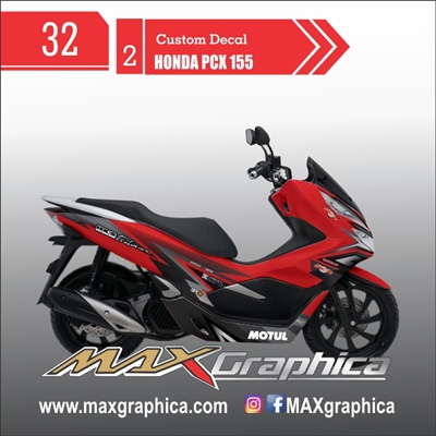 decal pcx merah cutting sticker sidoarjo